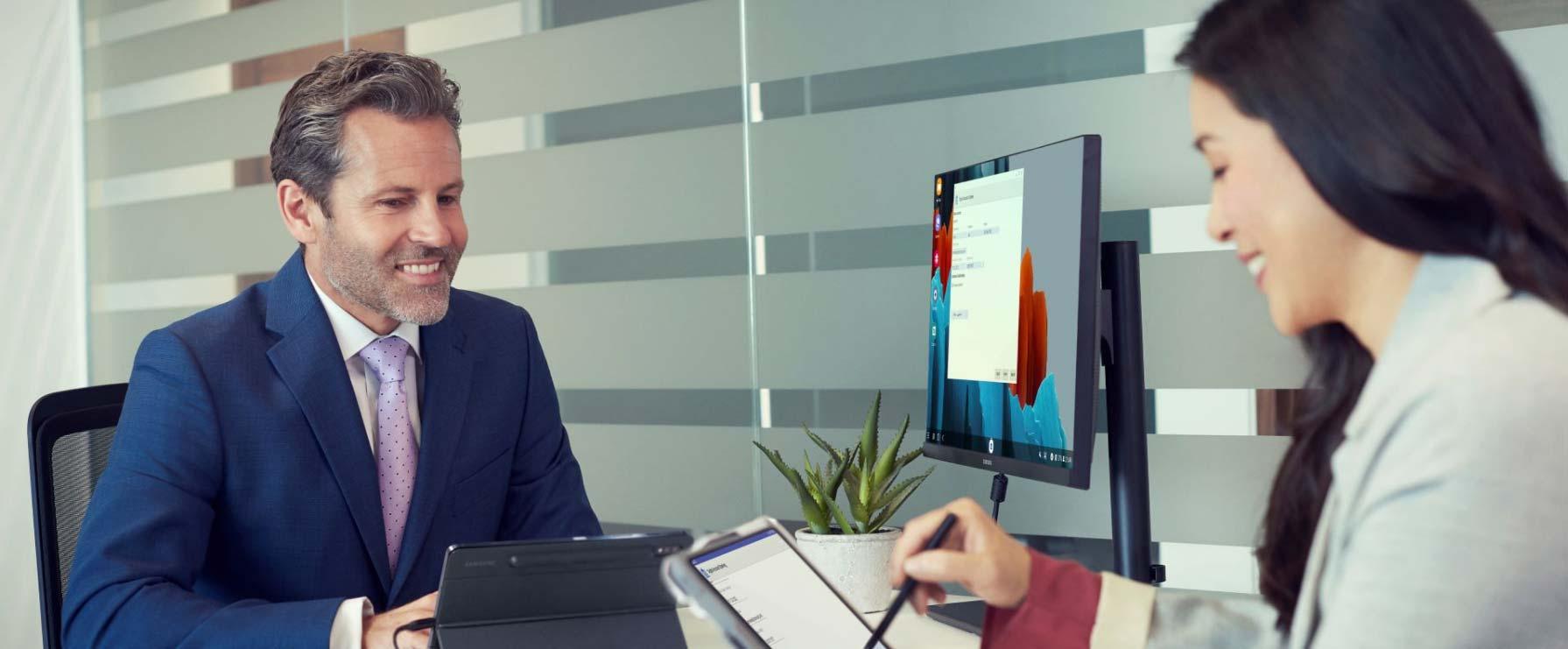 Samsung surfplatta digital arbetsplats